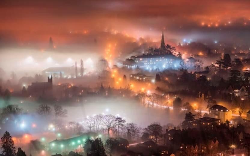 Great Malvern, England. Heckuva photo....