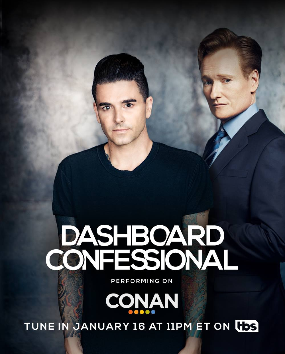 Don't forget to tune in and catch @dashboardmusic performing on @ConanOBrien tonight at 11pm ET on @TBSNetwork! https://t.co/NCjMXX1McM