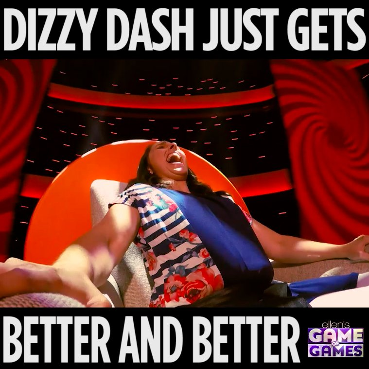 Did you see this last night? I may have wound the #DizzyDash too much. #GameofGames https://t.co/FXfBkP0CL6