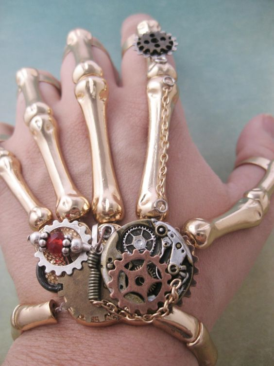 Awesome creepy skeleton hand... #steampunk #inspiration #dailydream