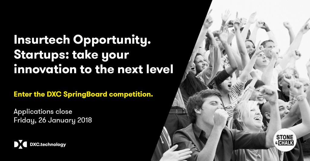 Announcing @DXC_ANZ with @stoneandchalk a national competition to drive #innovation in the insurance sector #insurtech #startups https://t.co/CaBb8UpMYF