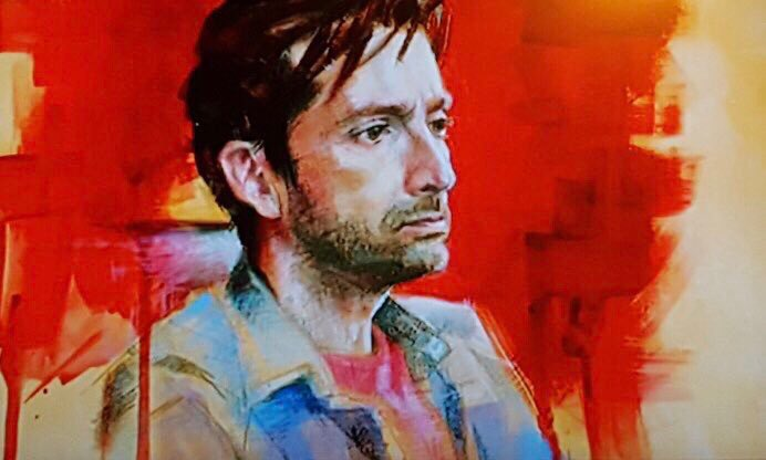 The portrait of David Tennant from Portrait Artist Of The Year