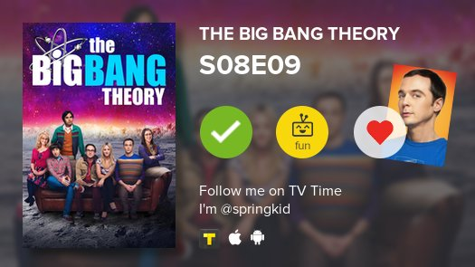 I've just watched episode S08E09 of The...
