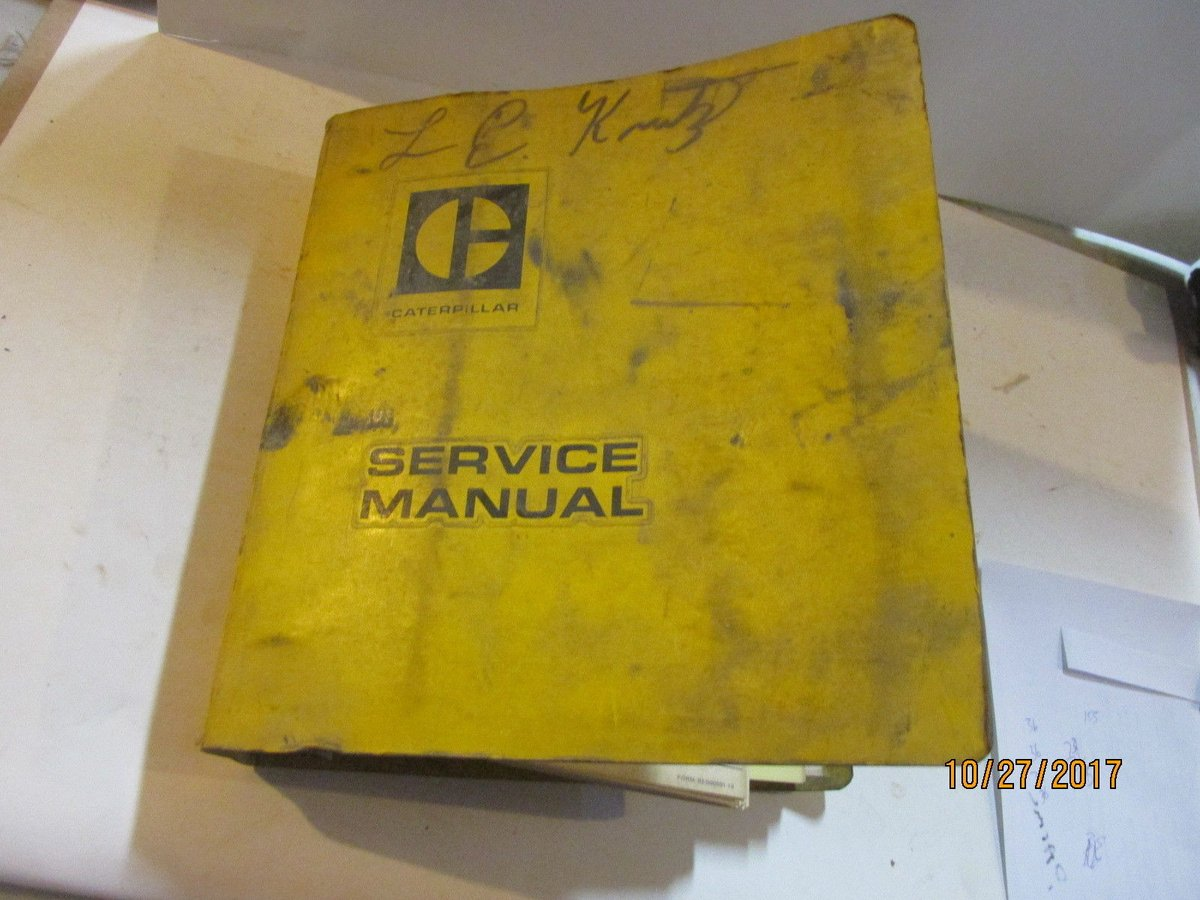 Service manual for cat 518