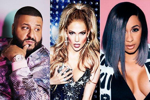 Resultado de imagen de Jennifer López, Cardi B y DJ Khaled