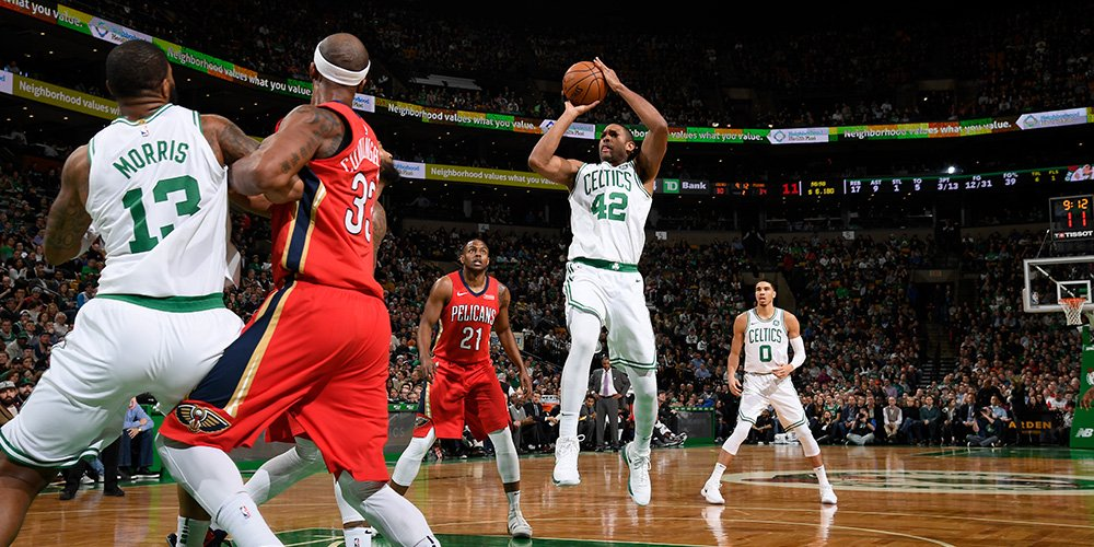 Halftime: Pelicans 58, Celtics 48. Marcus Morris provided a spark off the bench with 10 points and 6 rebounds. Jayson Tatum and Terry Rozier added 7 points apiece for Boston in the half. Anthony Davis: 25 points, 8 boards for New Orleans.