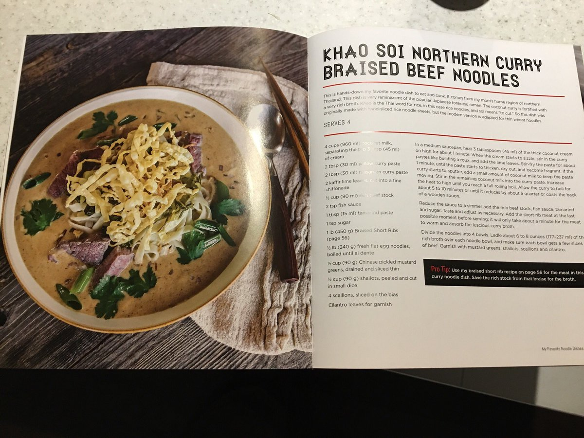 So, because of @kenjilopezalt, I watched the first episode of #SomebodyFeedPhil on #Netflix.. the Khao Soi he ate at the end looked absolutely delicious! And I was elated to find this in @jettila's #101AsianDishes! I am so making this!  <br>http://pic.twitter.com/NPD3SnnCsW