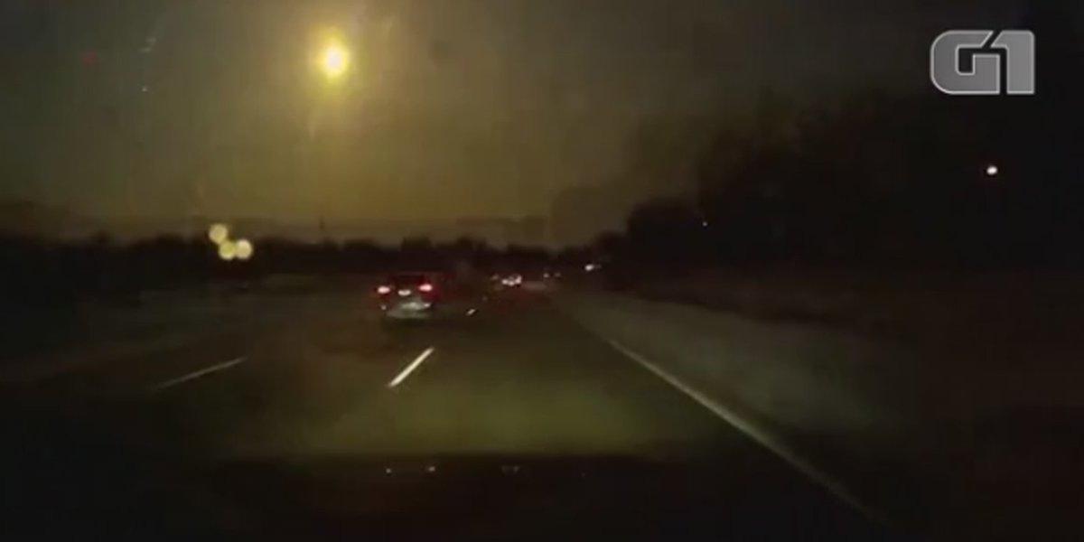 Meteoro é visto e ouvido em Detroit, nos...