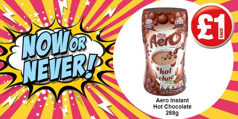 Poundland On Twitter Its Now Or Never Aero Hot Chocolate