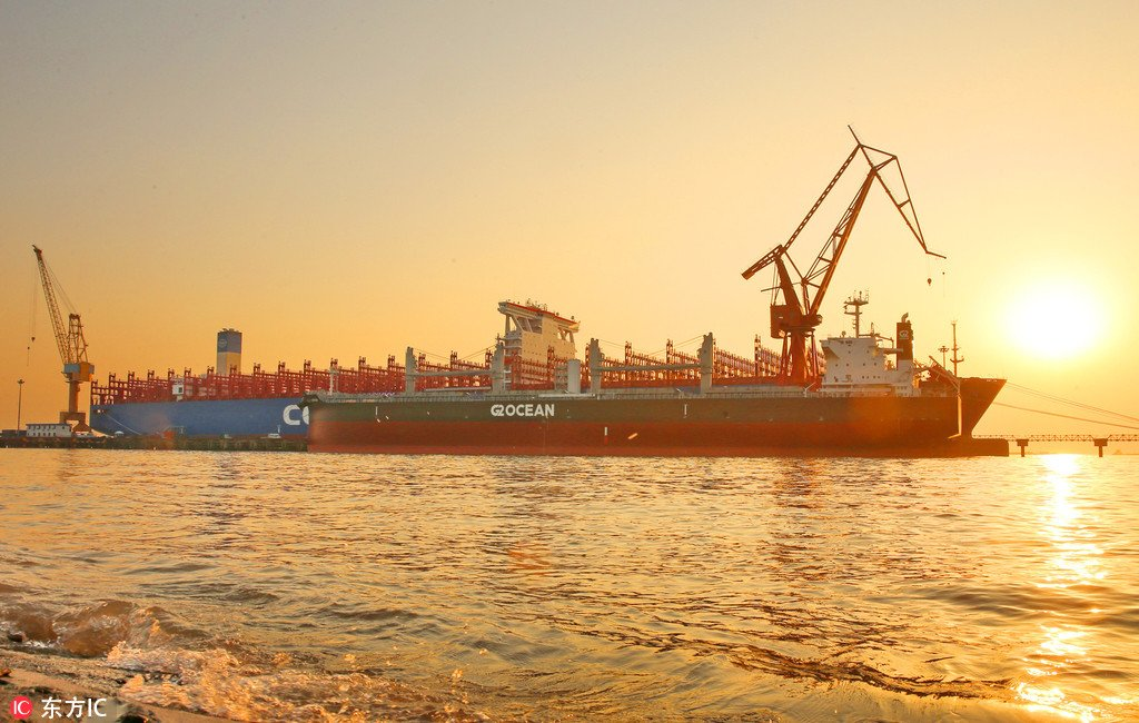 """China Daily on Twitter: """"China's first 20,000 TEU ..."""