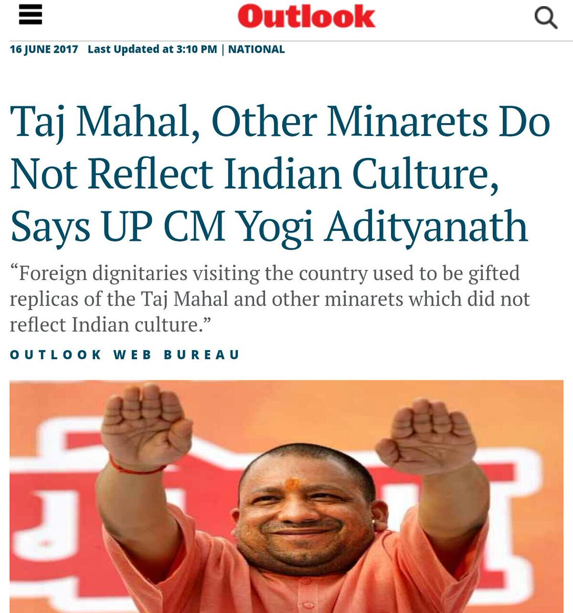 Typical Bigot Behaviour 👇 Now Yogi Wears...