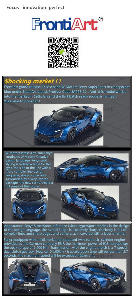 FRONTIART//sophiart fenyr Supersport W Motors 1:18 - Blue #sa003-11