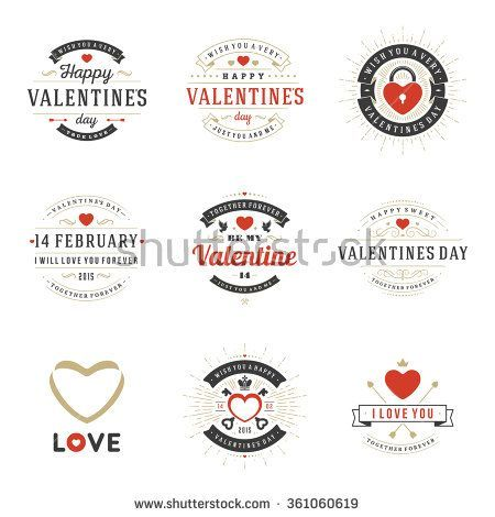 Valentines Day labels, badges, heart icons, symbols, greetings cards, illus… valentinesday2018collection.ml/valentines-day…