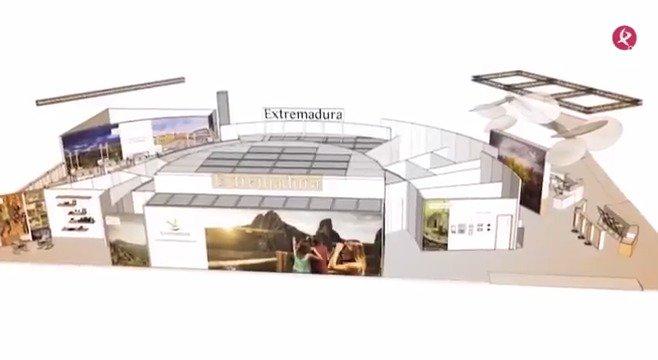 España y Extremadura llegan en un buen momento a FITUR. Tras los récords de turistas en 2017, la región se presenta con un stand en forma de sonrisa... #EXN @Fextur @clusterturism @CETEXsocial @Extremadura_tur https://t.co/WHiSNdvPxj