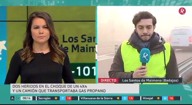 Accidente entre un camión de gas propano y un 4x4. Ha ocurrido en un cruce peligroso cercano a Los Santos de Maimona. Aunque algunos heridos han tenido que ser rescatados, ninguno corre peligro. #EXN https://t.co/2ir3HIwDjn
