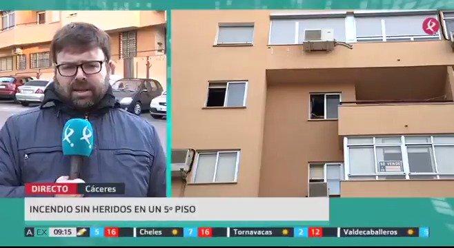 🔥Susto en un piso de estudiantes de #Cáceres. Un incendio en la vivienda provocó el desalojo de parte del edificio. Afortunadamente, no hay heridos. #EXN https://t.co/3OhncWMa1E