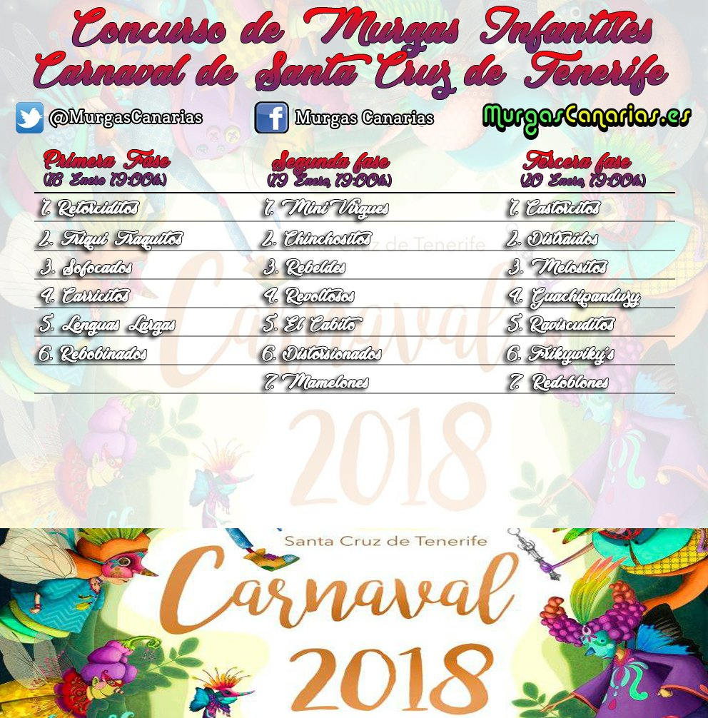 #CarnavalSC18 Latest News Trends Updates Images - MurgasCanarias