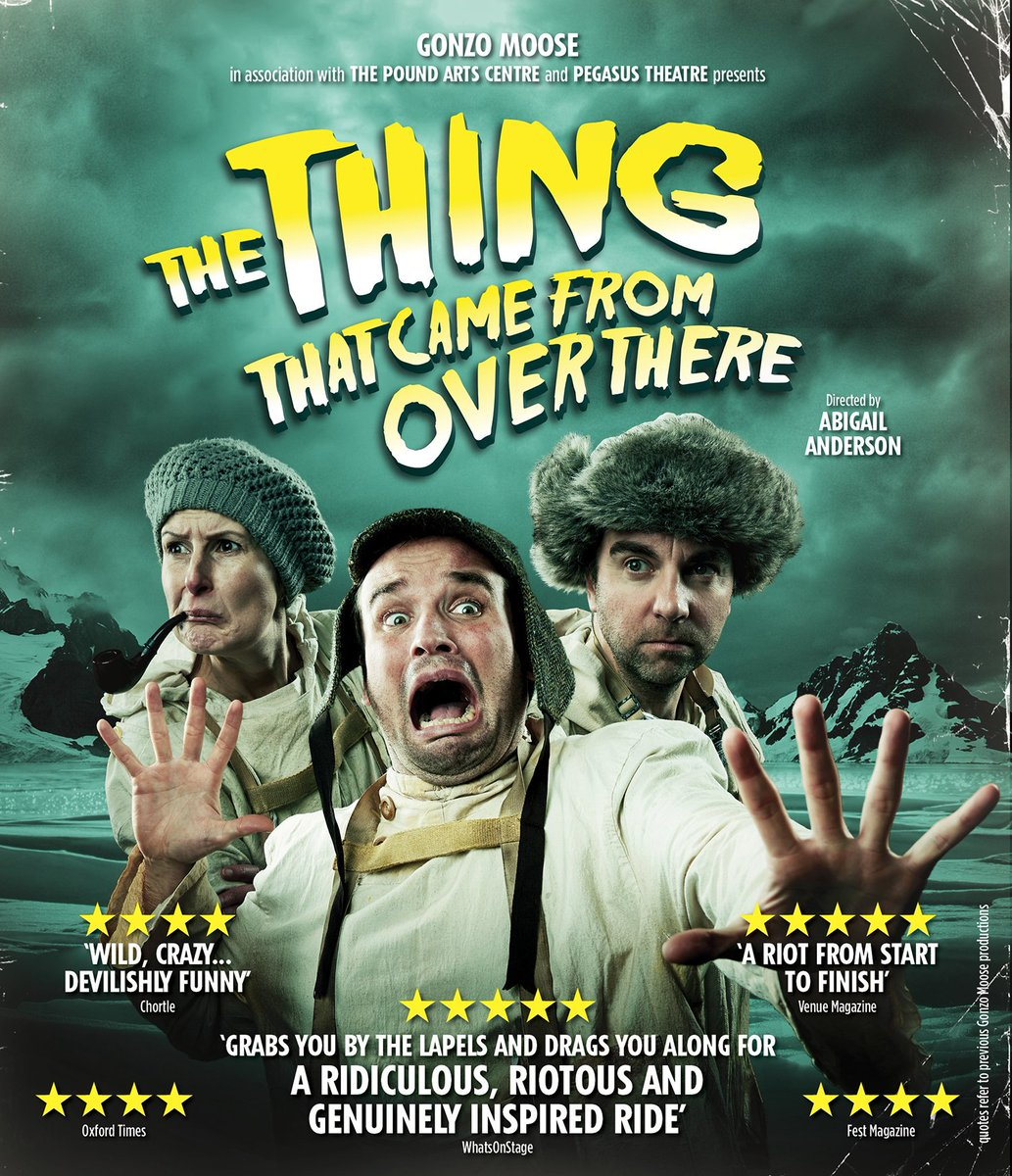 Coming to #BurtonBradstock Sat 3 Feb 7.30pm Inspired by the movies of the 1950's, 'The Thing That Came From Over There' by @gonzomoose is a fast-paced rollicking ride mixing comedy, thrills, gags, puppetry, hilariously gruesome deaths & much more! https://t.co/mtFFbfjXOu