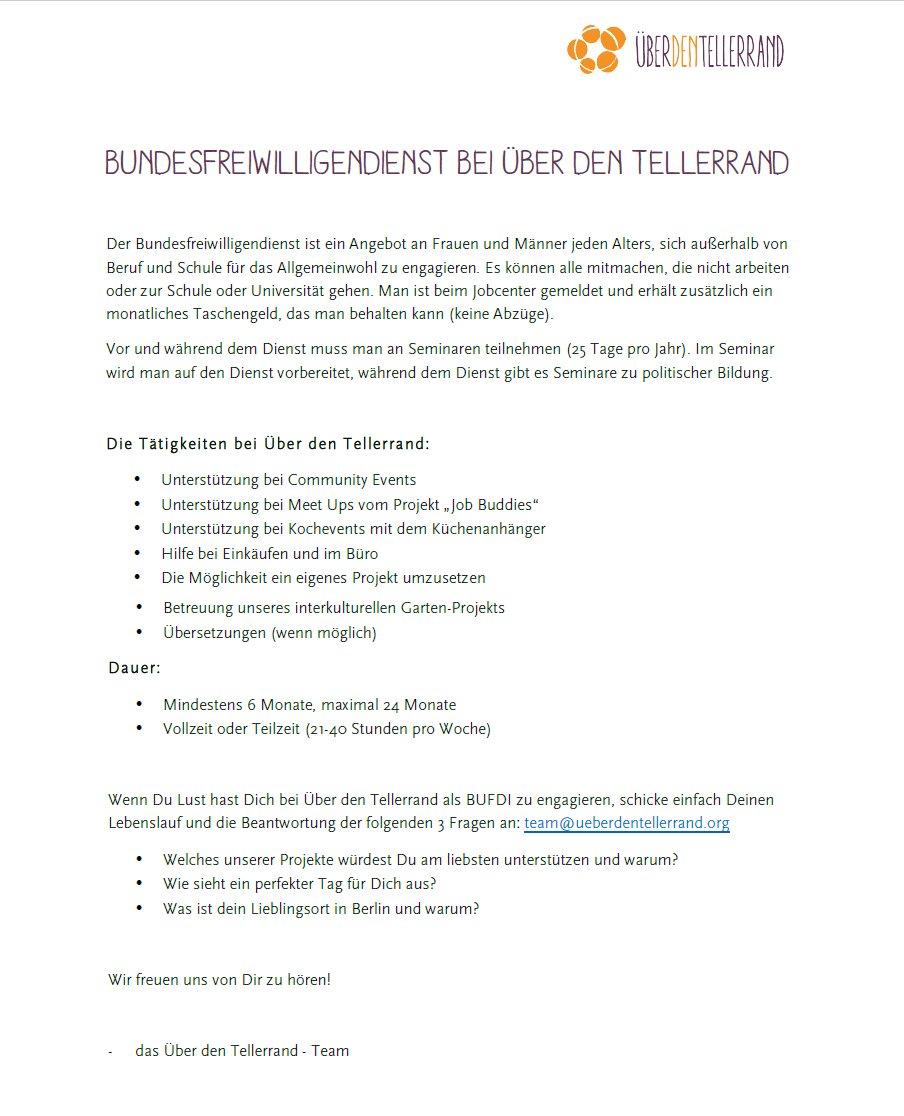 Start With A Friend على تويتر Bundesfreiwilligendienst Bei