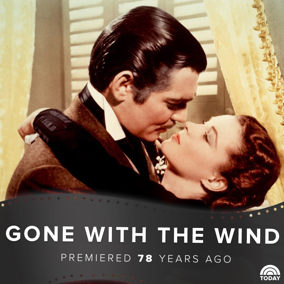 RT @TODAYshow: Frankly, we give a damn. It's Gone with the Wind's 78th anniversary! https://t.co/kk48Snn3tW