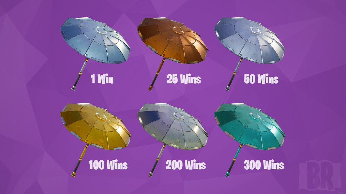 fortnite info on twitter te gustaria ver paraguas que puedas desbloquear ganando cierto numero de veces en fortnite battle royale - paraguas fortnite temporada 6