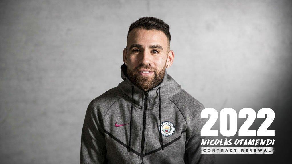 RASMI: Nicolas Otamendi oo heshiis cusub u saxiixay Manchester City