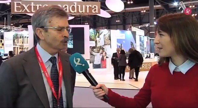 Acaba de arrancar #FITUR @fitur_madrid. @noramorenoruiz entrevista al Consejero de Economía e Infraestructuras @Junta_Economia para conocer cuál será la estrategia de #Extremadura en el gran foro turístico del país. #EXN https://t.co/rPboi48v11