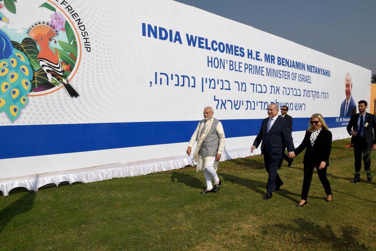 תודה לעשרות אלפי אזרחי הודו שקיבלו היום את פנינו לאמדאבאד עם דגלי ישראל ותמיכה אדירה!