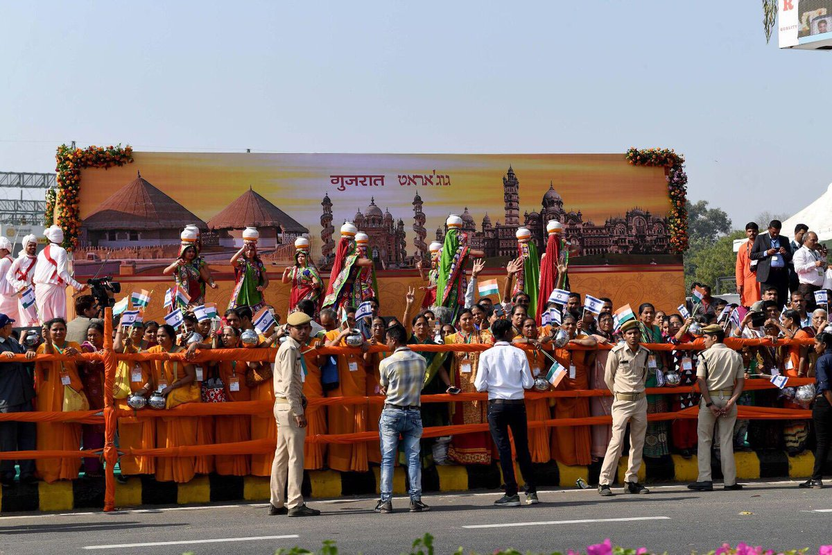 Thank you to the thousands of Indians who welcomed us to Ahmedabad today with Israeli flags and tremendous support!