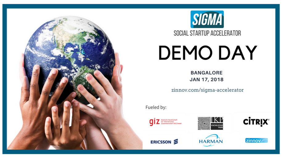 Proud to be at the DEMO DAY of the 8 startups who graduate from #SIGMAAccelerator today. #SocialEntrepreneurship #Sustainability  http:// zinnov.com/sigma-accelera tor &nbsp; … <br>http://pic.twitter.com/bJKUqIlHdU