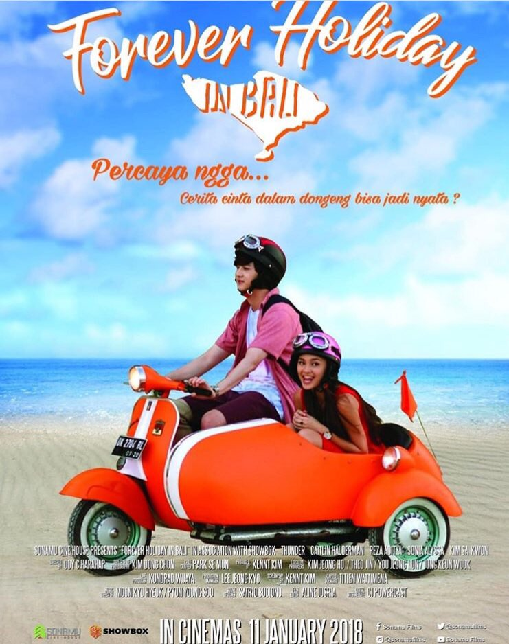 Forever Holiday in Bali 🎞📽 now showing!!! 😀🎟👏🏻👏🏻👏🏻 #Thunder #movie #Indonesia