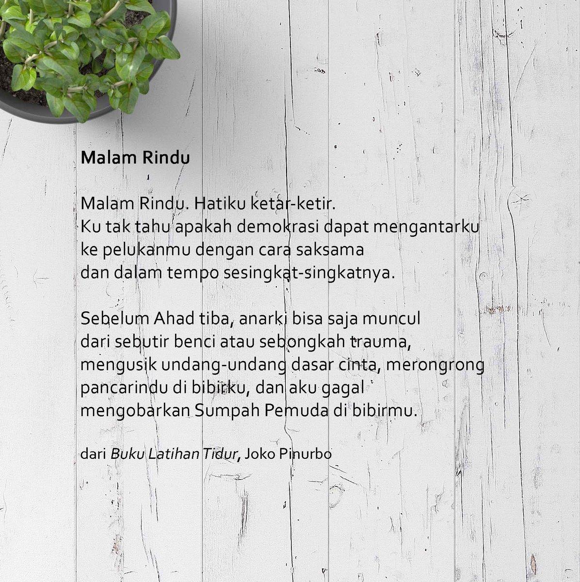 Sastra Gpu On Twitter Telah Terbit Buku Latihan Tidur Jokopinurbo
