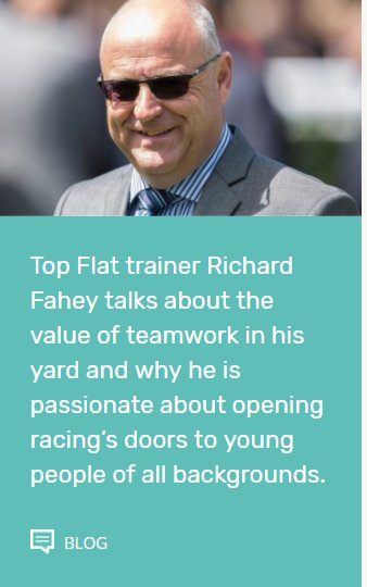 New blog post now live, Top Flat trainer @RichardFahey tells of his first steps into racing, career highlights, co-founding @_TakeTheReins and plans for the future.  Click here: https://t.co/nIp5C8duX6