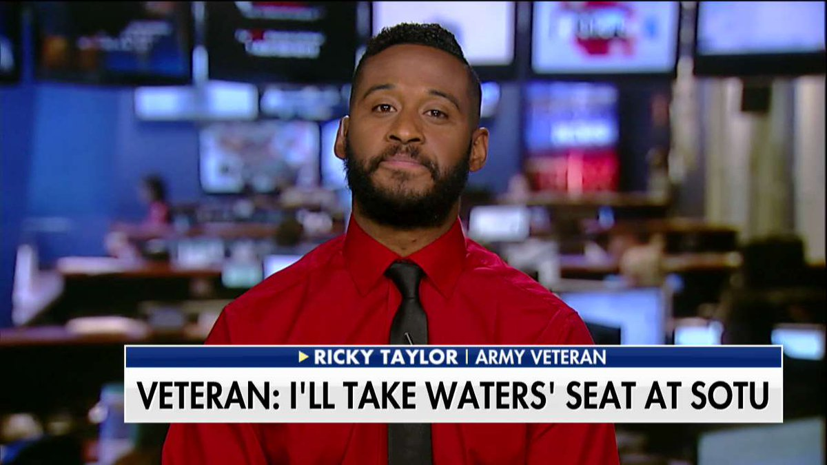"""Ricky Taylor on Maxine Waters: """"She doesn't speak for everybody. She surely doesn't speak for me."""" @foxandfriends"""