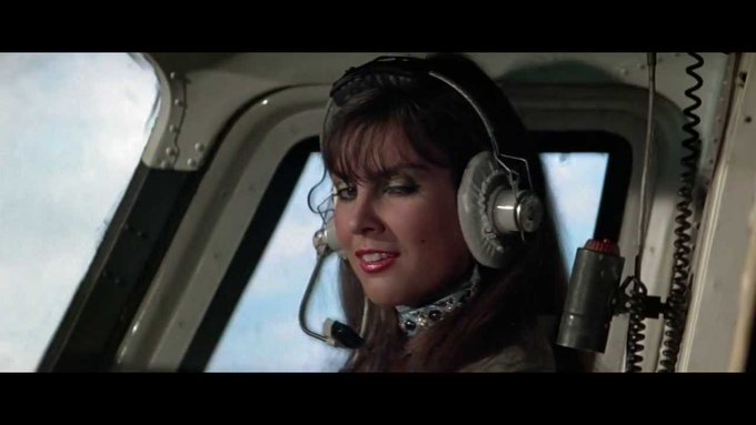 Happy birthday to the greatest helicopter pilot in the history of cinema. Caroline Munro, 69 today.