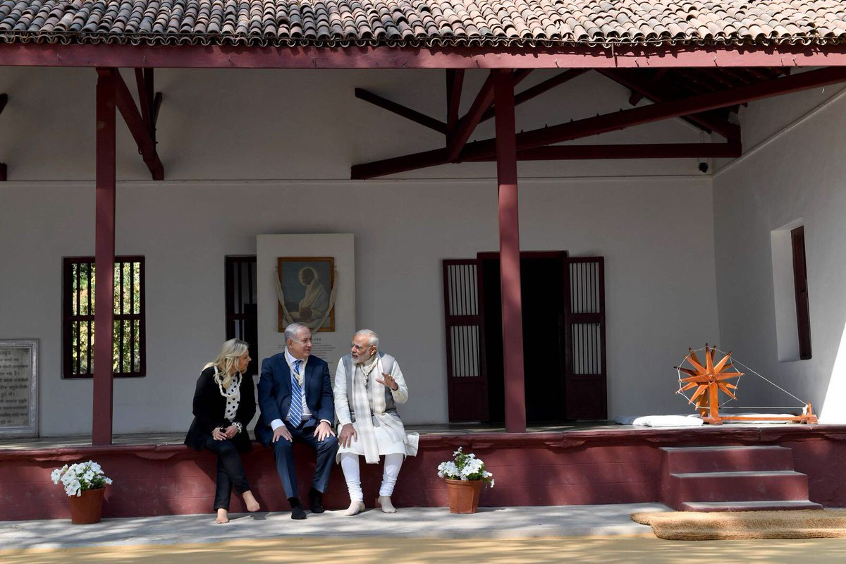 Thank you to our good friend, Indian Prime Minister @narendramodi, who accompanied us today on our visit to Gandhi's home, Sabarmati Ashram. This was a special and moving day.