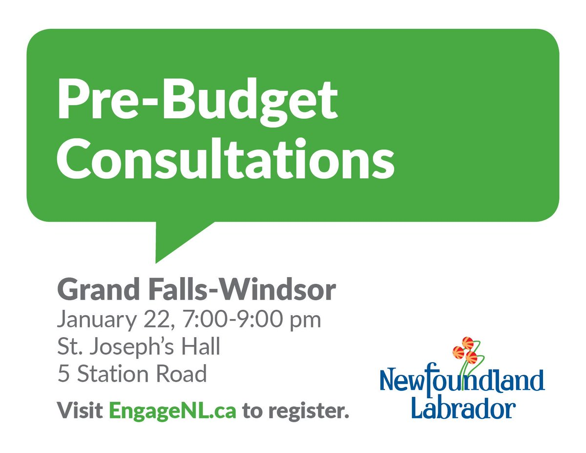 See you there! #gfw #nlpoli #budgettime<br>http://pic.twitter.com/JQvNO74UYX