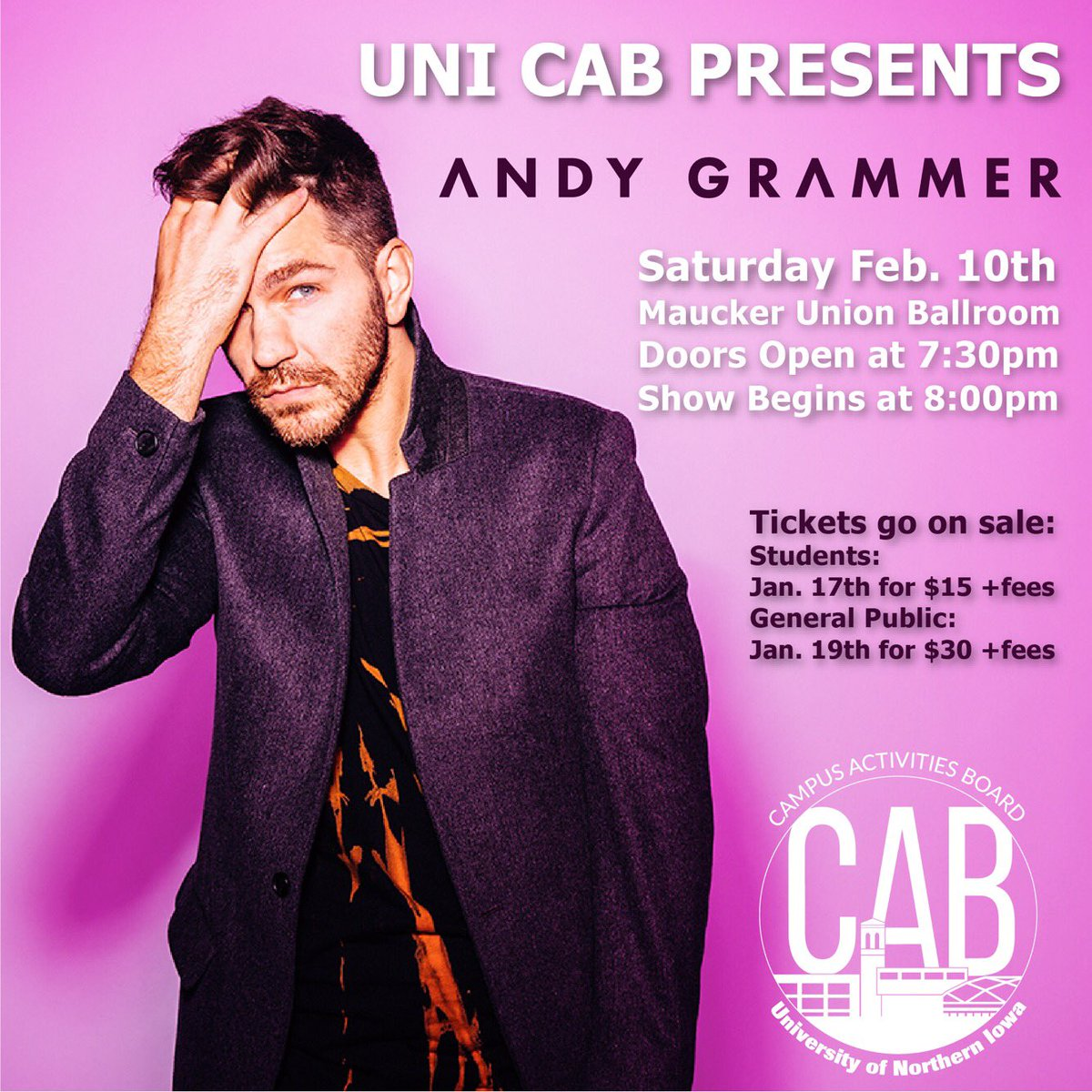 Get your Andy Grammer tickets today unti...