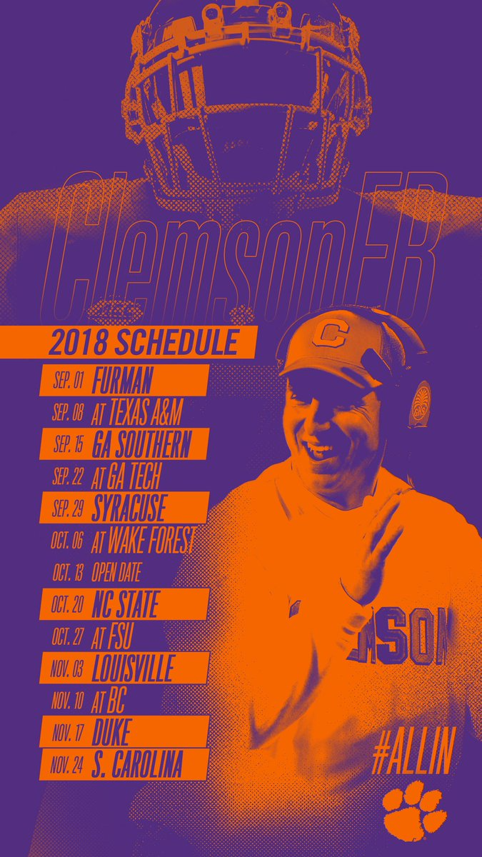 Clemson Football On Twitter Iphone X Wallpapers Featuring