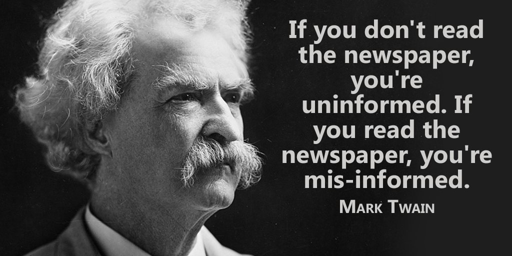 Imagini pentru if you don't read the newspaper you're uninformed