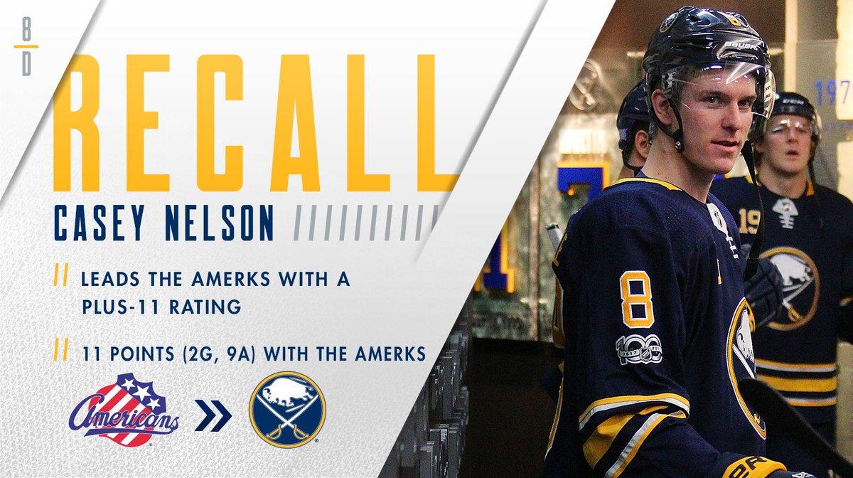 We've recalled defenseman Casey Nelson f...