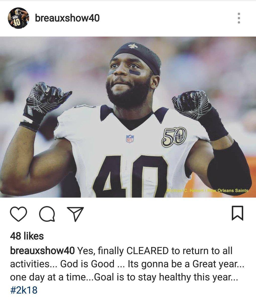 Looks like some good news on #Saints' De...