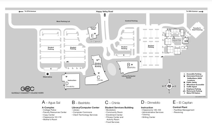 Gcc Az Campus Map.Gcc On Twitter Good Morning Gauchos If You Need Help Finding A