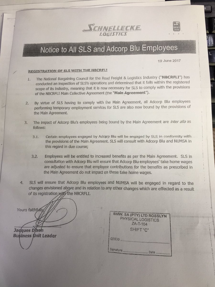 Bangumhlaba On Twitter This Is The Agreement The Workers Were