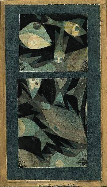 Paul Klee 'Aquarium Green Red', 1921. ht...