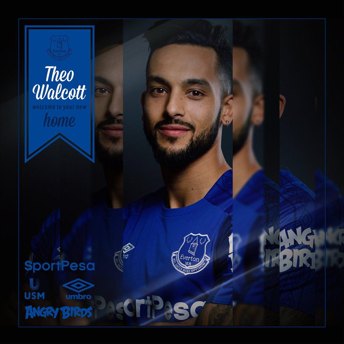 RASMI: Theo Walcott oo ku biiray Everton (Lambarkee loo xiray?)