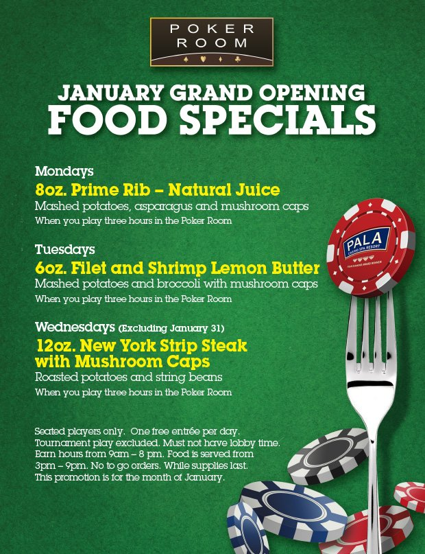 RT @palacasinopoker: Play 3 Hours from 9am-8pm & receive a FREE NY Strip Steak Dinner! #PalaCasino #PalaPoker #Poker https://t.co/OB2QTDkDLl