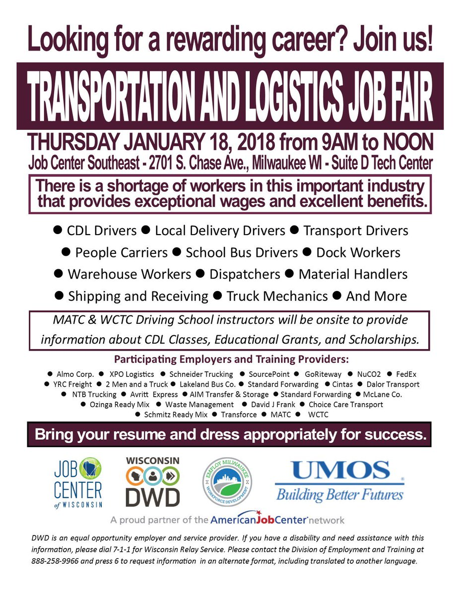 Logistics Yst Resume | Jobcenterwi Hashtag On Twitter