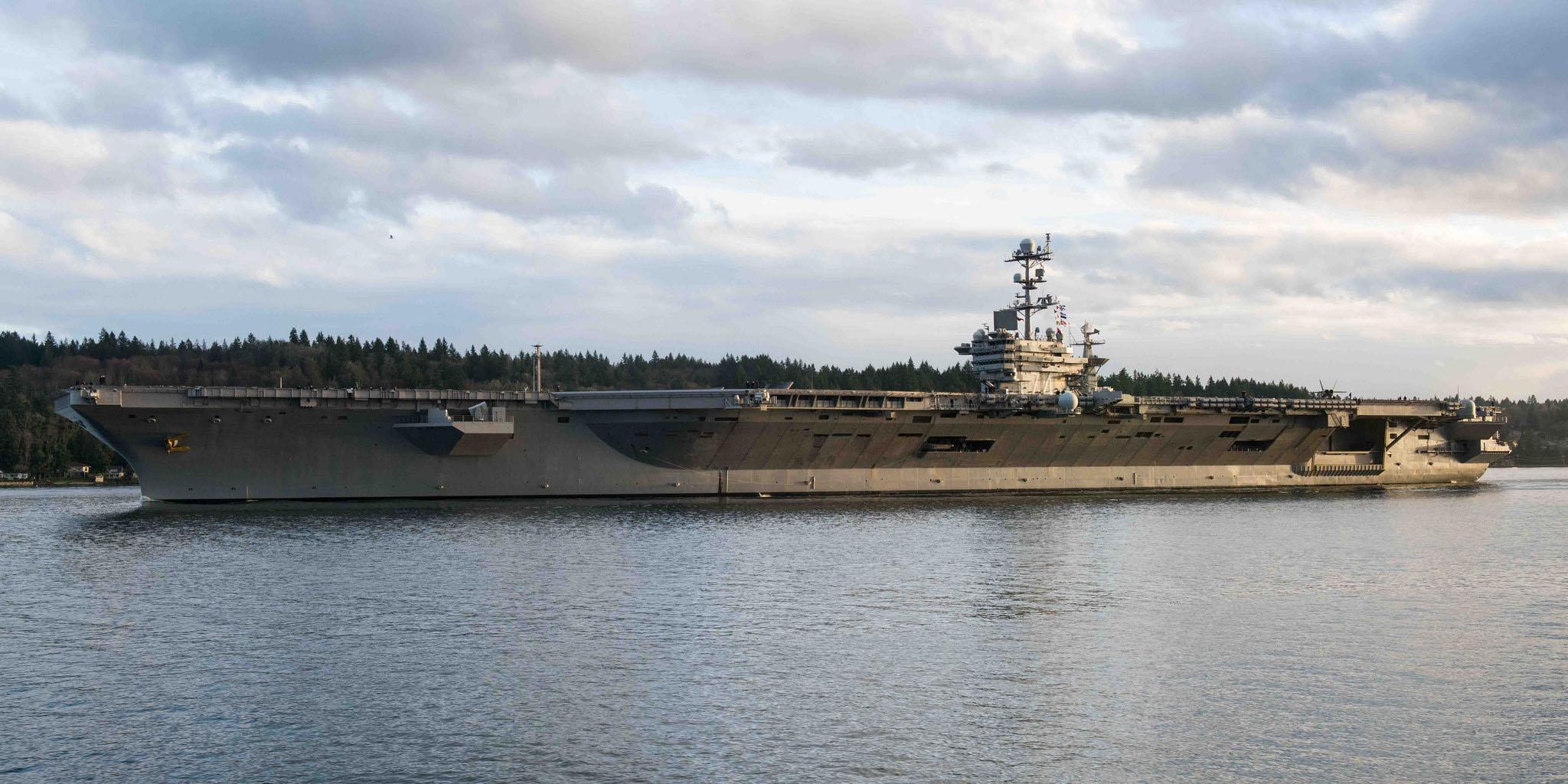 #USSJohnCStennis returns to sea for training - https://t.co/lZ5k8jnnkr #CVN74 #USNavy https://t.co/eMf4UeAq9e