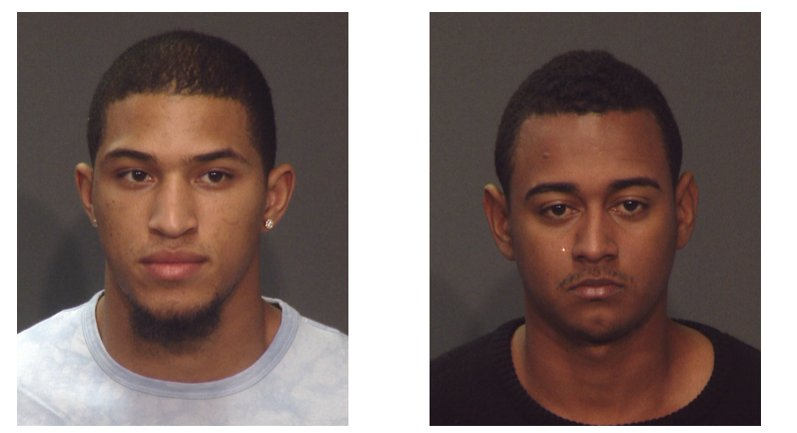 WANTED BY THE NYPD: These two Bronx men are wanted for striking an NYPD Officer with a vehicle in Times Square on Sunday and fleeing the scene.  Arfhy Santos (20) Williams Lopez (24) Submit tips to police by calling Crime Stoppers at 1-800-577-TIPS (8477)